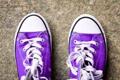 Espadrilles au sol Photo libre de droits
