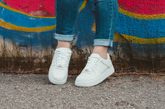 Espadrilles blanches Image stock