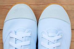 Espadrilles blanches Image libre de droits