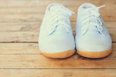 Espadrilles blanches Photo stock