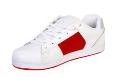 Espadrilles blanches de chaussure de patin Image libre de droits
