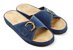 Espadrilles bleues Photos stock