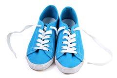 Espadrilles bleues Image stock