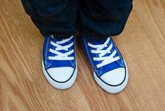 Espadrilles bleues Photographie stock