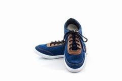 Espadrilles bleues Chaussure de toile Image libre de droits