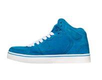 Espadrilles bleues sur le fond blanc Photo stock