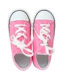 Espadrilles (chaussures de tennis) au-dessus de blanc Image libre de droits