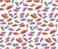 Espadrilles colorées lumineuses Photos stock