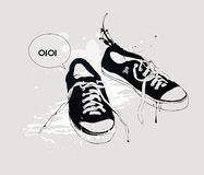 Espadrilles de chaussures sportives Photographie stock libre de droits