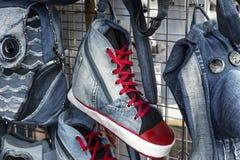 Espadrilles de jeans Photographie stock
