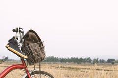 Espadrilles de jeans sur la bicyclette, voyage de concept Image libre de droits