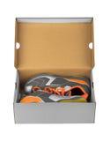 Espadrilles de sport dans la boîte Photographie stock