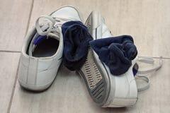 Espadrilles et chaussettes Images libres de droits