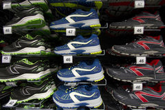Espadrilles et chaussures courantes marquées Image libre de droits
