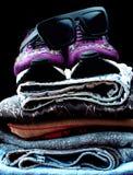Espadrilles et vêtements Image libre de droits