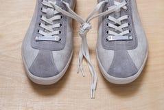 Espadrilles grises de couleur Photographie stock libre de droits