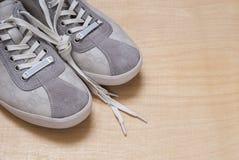 Espadrilles grises de couleur Images stock