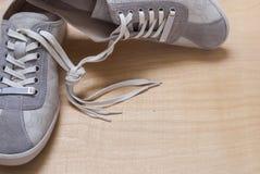 Espadrilles grises de couleur Image stock
