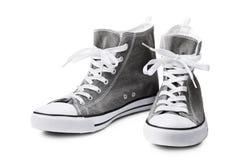 Espadrilles grises sans marque Photo libre de droits