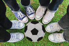 Espadrilles, le football Image libre de droits