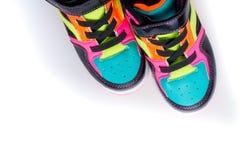 Espadrilles multicolores d'isolement sur le fond blanc Image stock