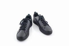 Espadrilles noires Chaussure de toile Photo libre de droits