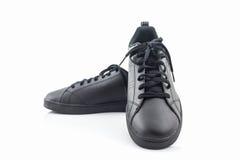 Espadrilles noires Chaussure de toile Photo stock