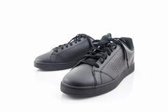 Espadrilles noires Chaussure de toile Image libre de droits