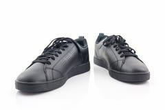 Espadrilles noires Chaussure de toile Images stock