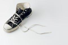Espadrilles noires de cru de couleur Image libre de droits