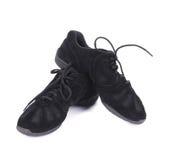 Espadrilles noires de danse Photographie stock
