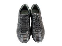 Espadrilles noires en cuir Photographie stock libre de droits
