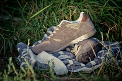 Espadrilles pour former, chaussures de sports Photographie stock libre de droits