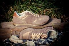Espadrilles pour former, chaussures de sports Photo libre de droits