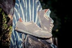 Espadrilles pour former, chaussures de sports Image libre de droits