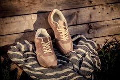 Espadrilles pour former, chaussures de sports Photographie stock