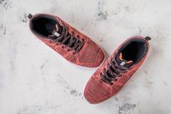 Espadrilles pour la femme Chaussures pour la forme physique et le sport Photographie stock libre de droits