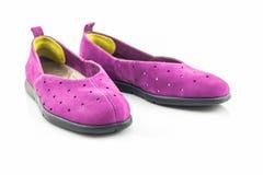 Espadrilles pourprées Chaussure de toile Photographie stock
