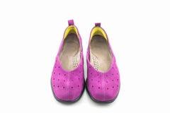 Espadrilles pourprées Chaussure de toile Images libres de droits