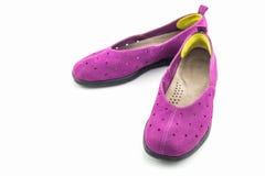Espadrilles pourprées Chaussure de toile Image libre de droits