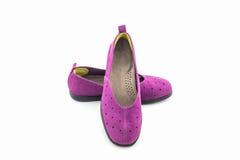 Espadrilles pourprées Chaussure de toile Photo libre de droits