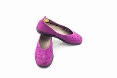 Espadrilles pourprées Chaussure de toile Image stock
