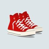 Espadrilles rouges illustration stock