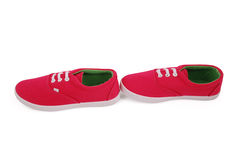 Espadrilles rouges de fille Image stock