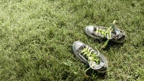 Espadrilles sur l'herbe Photo libre de droits