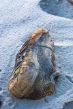 Espadrilles sur la plage Photos stock