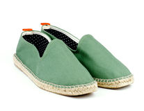 Espadrilles vertes Photo stock