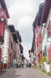 ` Espagne de la rue d dans le saint Jean Pied de Port Photo libre de droits