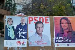 Espagnol 2015 élections Image stock