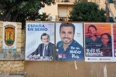 Espagnol 2015 élections Image libre de droits